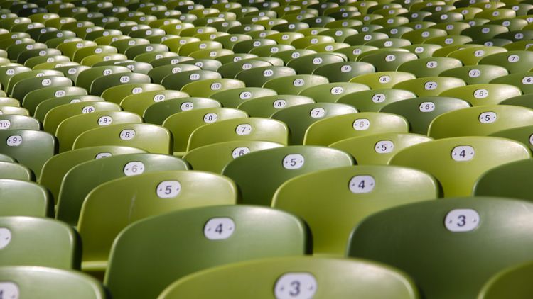 Image of chairs in a lecture hall.