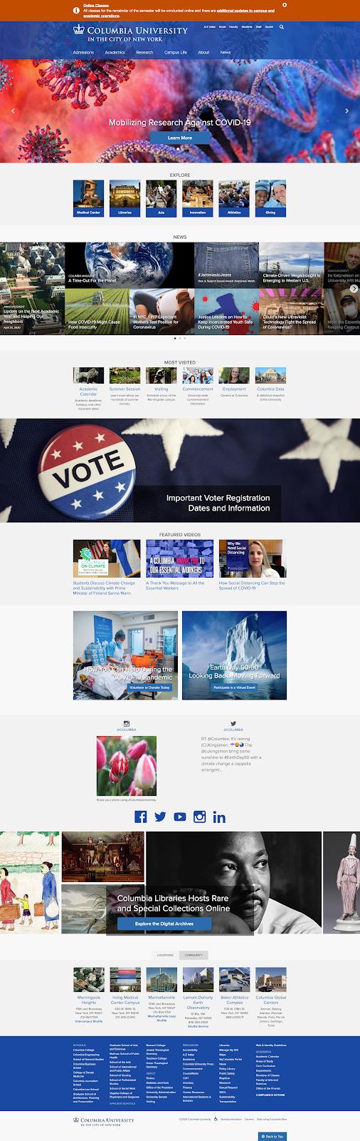 Emergency Notification Columbia Homepage