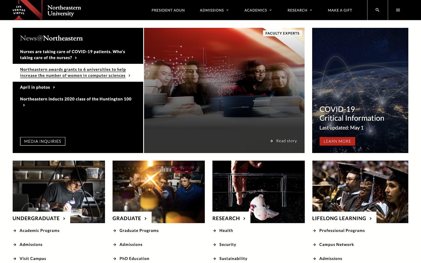 Northeastern University homepage